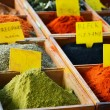 Variety of spices in the store — Stock Photo