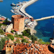 View of Alanyharbor form Alanypeninsula. Turkish Riviera — Stock Photo #34814891