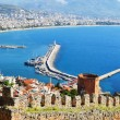 View of Alanyharbor form Alanypeninsula. Turkish Riviera — Stock Photo #34817071