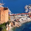 View of Alanyharbor form Alanypeninsula. Turkish Riviera — Stock Photo #34842503