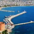 View of Alanyharbor form Alanypeninsula. Turkish Riviera — Stock Photo #34851885