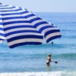 Mediterranean beach during hot summer day — Stock Photo