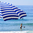 Stock Photo: Mediterranebeach during hot summer day