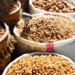 Food products on the street market in arabic country — Stock Photo