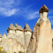 Rocks of Cappadocia in Central Anatolia, Turkey — Stock Photo