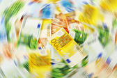 Money laundering. Euro European currency — Stock Photo