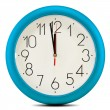 Stock Photo: Wall clock isolated on white background. Twelve o'clock