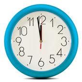 Wall clock isolated on white background. Twelve o'clock — Stock Photo