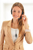 Call center operator. Customer support. Helpdesk. — Stock Photo