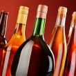 Bottles of assorted alcoholic beverages — Stock Photo #37971183