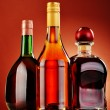 Bottles of assorted alcoholic beverages — Stock Photo #37971197