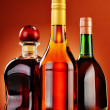 Bottles of assorted alcoholic beverages — Stock Photo #37971223