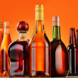 Bottles of assorted alcoholic beverages — Stock Photo #37971251