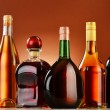 Bottles of assorted alcoholic beverages — Stock Photo #37971301