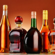 Bottles of assorted alcoholic beverages — Stock Photo #37971345