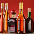 Bottles of assorted alcoholic beverages — Stock Photo #37971389