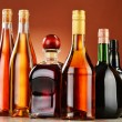 Bottles of assorted alcoholic beverages — Stock Photo #37971411