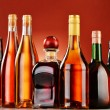 Bottles of assorted alcoholic beverages — Stock Photo #37971431