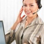 Call center operator. Customer support. Help desk. — Stock Photo #38610061