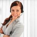 Call center operator. Customer support. Help desk. — Stock Photo #38612311