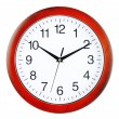 Wall clock isolated on white background — Stock Photo