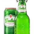 Постер, плакат: Bottle and can of Grolsch beer isolated on white