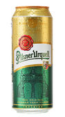 Can of Pilsner Urquell beer isolated on white — Stock Photo