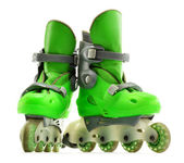 A pair of inline skates isolated on white background — Stock Photo