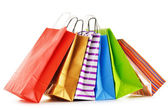 Paper shopping bags isolated on white background — Stockfoto