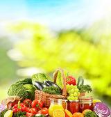 未加工有機野菜ベースのバランスの取れた食事 — ストック写真