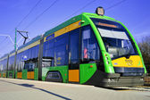 Streetcar Tramino in Poznan Poland — Stock Photo