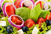 Vegetable salad bowl. Balanced diet — Stock Photo