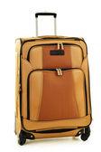 Large suitcase isolated on white — Stock Photo