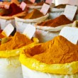 Spices in Arabic store including turmeric and curry powder — Stock Photo #49888589