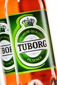 Bottles of Tuborg beer — Foto de Stock