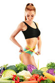 Dieting. Balanced diet based on raw organic vegetables — Foto Stock