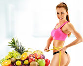 Dieting. Balanced diet based on organic food — Stock Photo