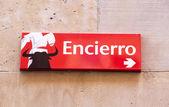 Plate Encierro — Stock Photo