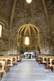 Interior of Church of Saint Mary of Eunat — Stock Photo