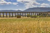 Roman aqueduct at pamplona — Stock Photo