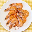 Delicious fresh cooked shrimp prepared to eat — Stock fotografie