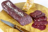 Iberian sausage table — Stock Photo