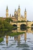 Catedral Basilica de Nuestra Se�ora del Pilar, Zaragoza Spain — Foto de Stock