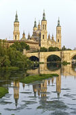 Catedral Basilica de Nuestra Se�ora del Pilar, Zaragoza Spain — 图库照片
