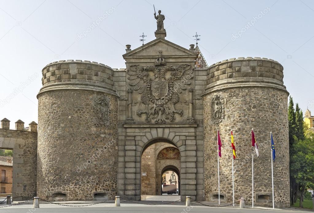 Puerta nueva de bisagra in toledo spain stock photo - Bisagra de puerta ...