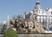 Cibeles Fountain in Madrid — Stock Photo
