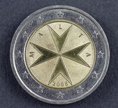 Two Euro coin from the Republic of Malta — Stock Photo
