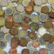 Close-up of Euro banknotes and coins — Stock Photo #17379567