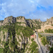 Santa Maria de Montserrat monastery, Catalonia, Spain. Panoramic of 50Mpx — Stock Photo