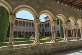 Ripoll monastery cloister — Stock Photo